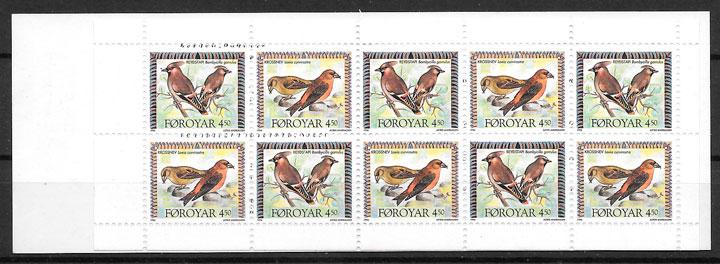 colección sellos fauna Feroe 1996