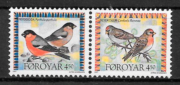 filatelia fauna Feroe 1997