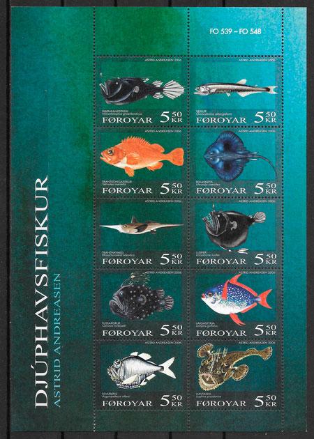 colección sellos fauna Feroe 2006