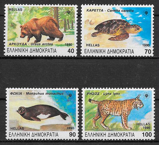 sellos fauna Grecia 1990