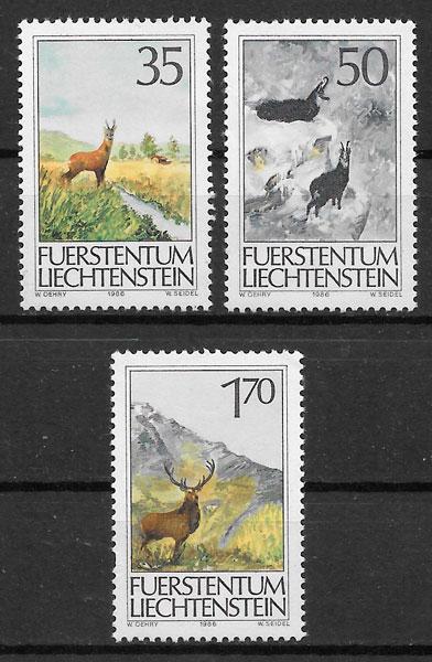 sellos fauna Liechtenstein 1986