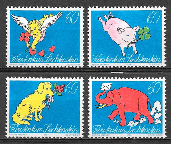 colección sellos Liechtenstein 1994