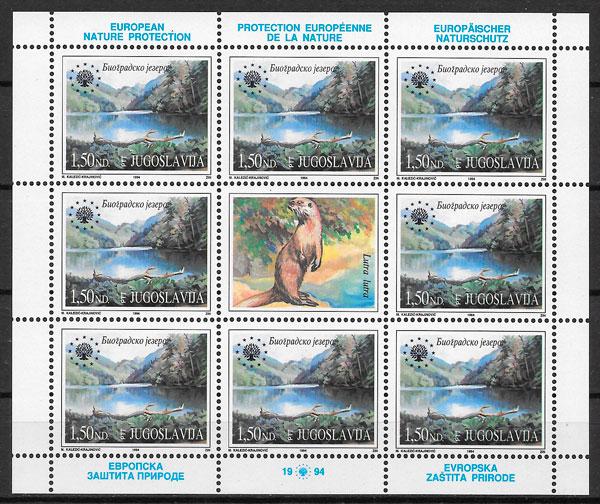 sellos fauna Yugoslavia 1994