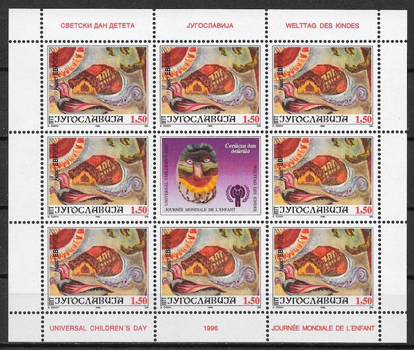 colección sellos fauna Yugoslavia 1996