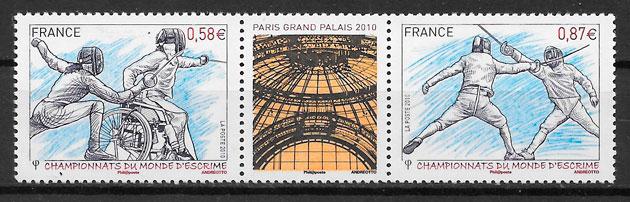 sellos deporte Francia 2010