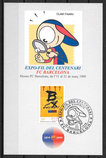 sellos fútbol España 1992