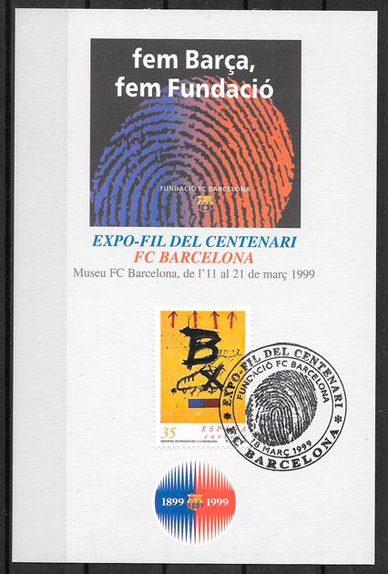 filatelia fútbol España 1992