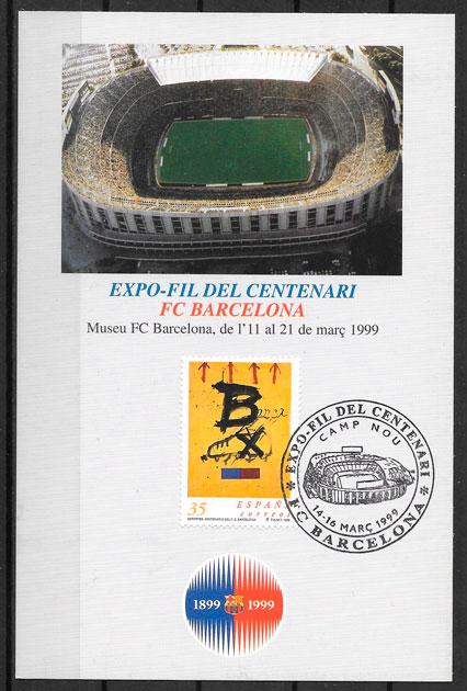 filatelia colección fútbol España 1992