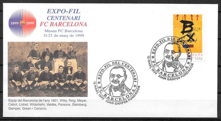 sellos fútbol España 1999