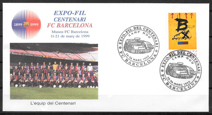filatelia fútbol España 1999