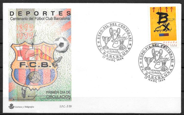 colección sellos fútbol España 1999