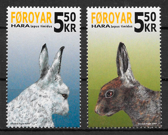 filatelia fauna Feroe 2004