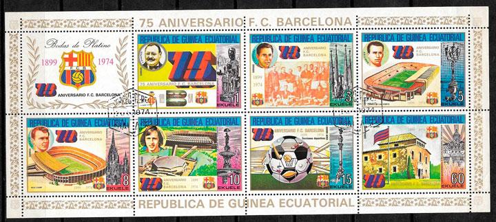 sellos fútbol Guinea Ecuatorial 1974