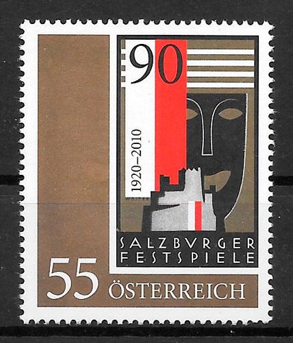 colección sellos arte Austria 2010