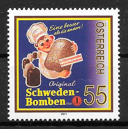 colección sellos arte Austria 2011