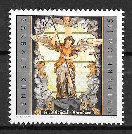 colección sellos arte Austria 2012