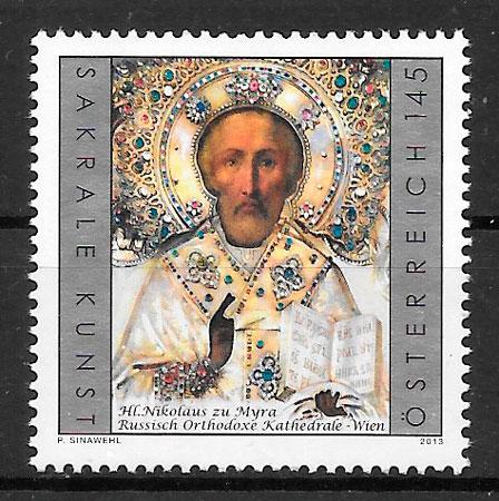 colección sellos arte Austria 2013