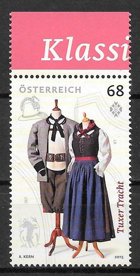 colección sellos arte Austria 2015
