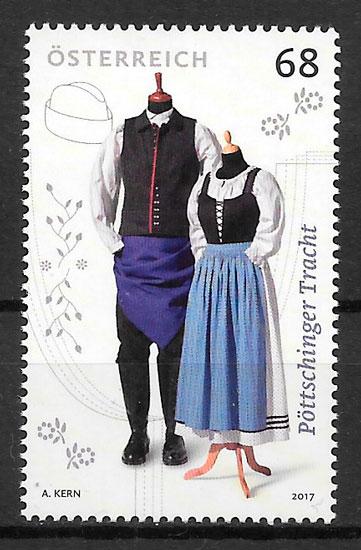 colección sellos arte Austria 2017