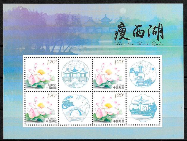 sellos flora China 2011