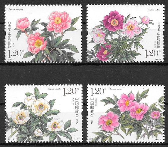 sellos flora China 2019