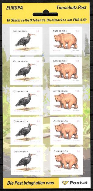 sellos Austria fauna 2006