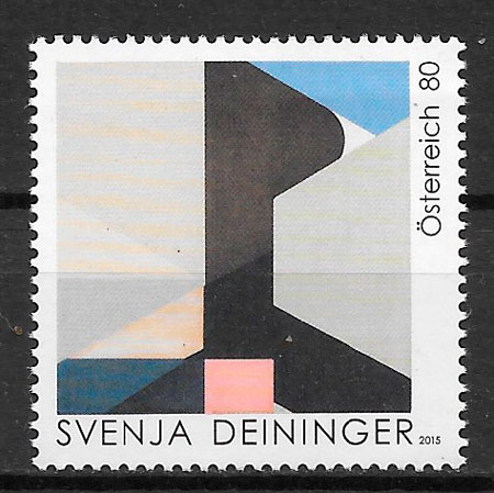 colección sellos pintura Austria 2015