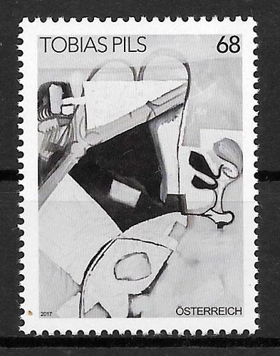colección sellos pintura Austria 2017