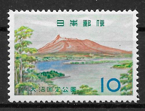 filatelia parques nacionales Japón 1961