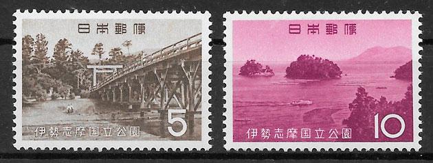 sellos parques nacionales Japón 1964