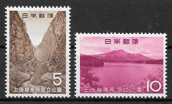 filatelia parques nacionales Japón 1965
