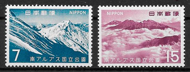 sellos parques nacionales Japón 1967