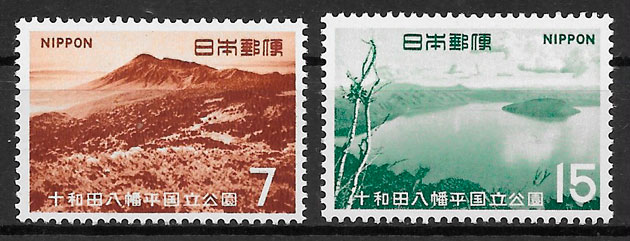 filatelia parques nacionales Japón 1968