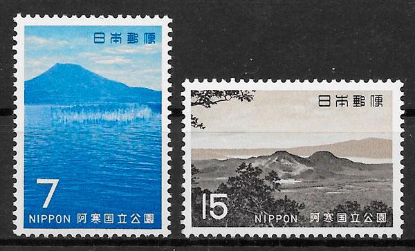 filatelia colección parques nacionales Japón 1969