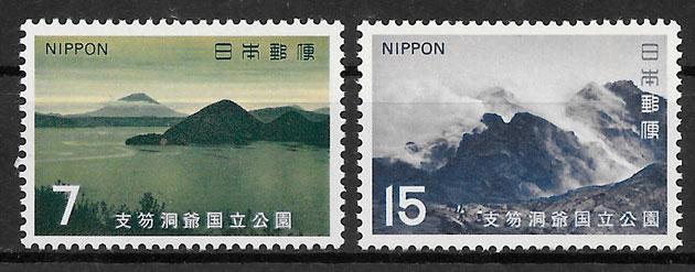 sellos parques nacionales Japón 1971