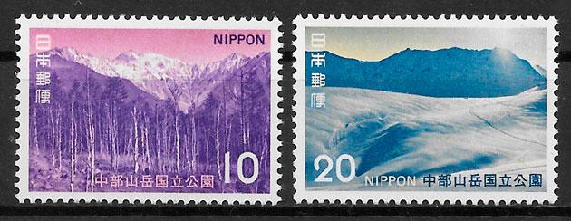 filatelia colección parques nacionales Japón 1972