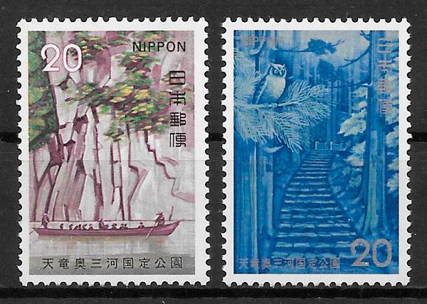 colección sellos parques nacionales Japón 1973