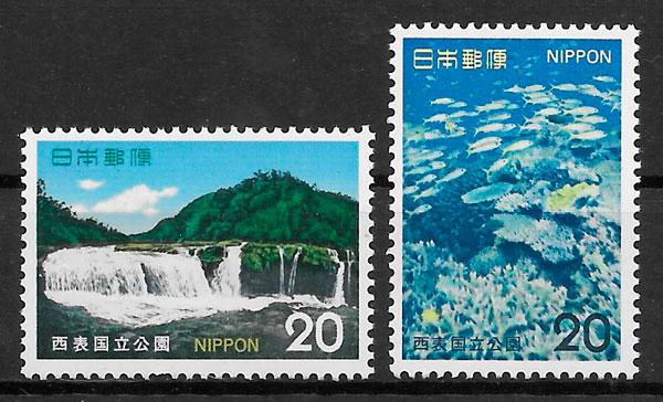 sellos parques nacionales Japón 1974