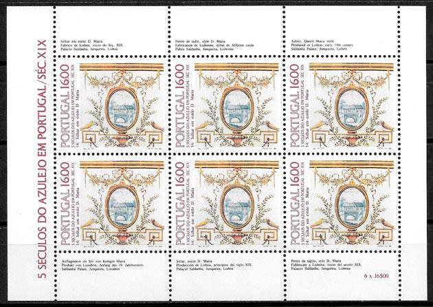 filatelia colección arte Portugal 1984