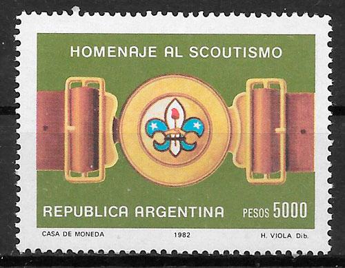 sellos escultismo Argentina 1982