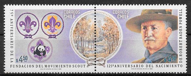 selos escultismo Chile 1983
