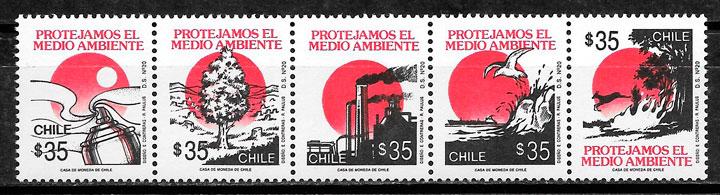 filatelia medio ambiente Chile 1990