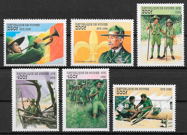 sellos escultismo Guinea 1998