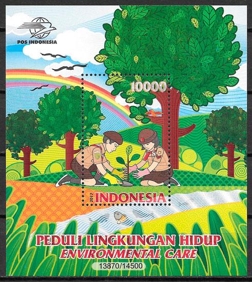 colección selos escultismo Indonesia 2017