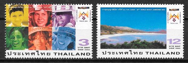 selos escultismo Tailandia 2002
