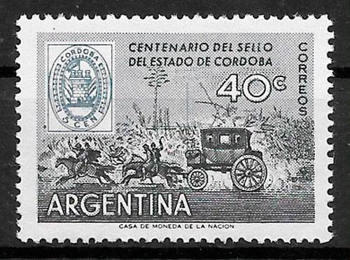 sellos transporte Argentina 1958