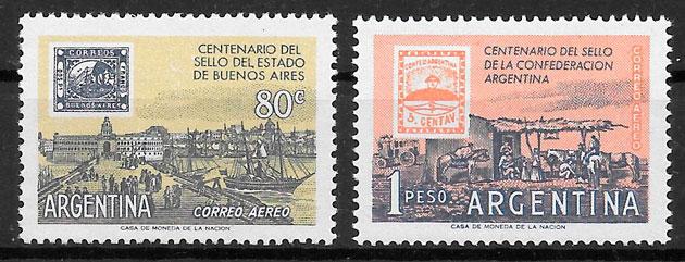 filatelia transporte Argentina 1958