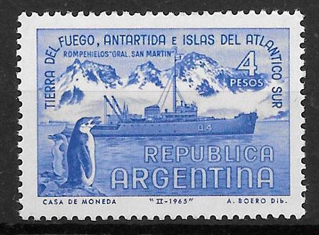 filatelia colección transporte Argentina 1965
