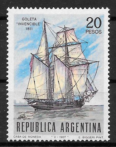 colección sellos transporte Argentina 1967