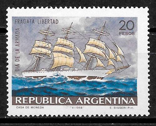 colección sellos transporte Argentina 1968